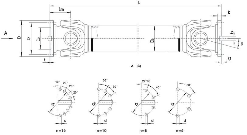 SWC-BF标准伸缩法兰式联轴器