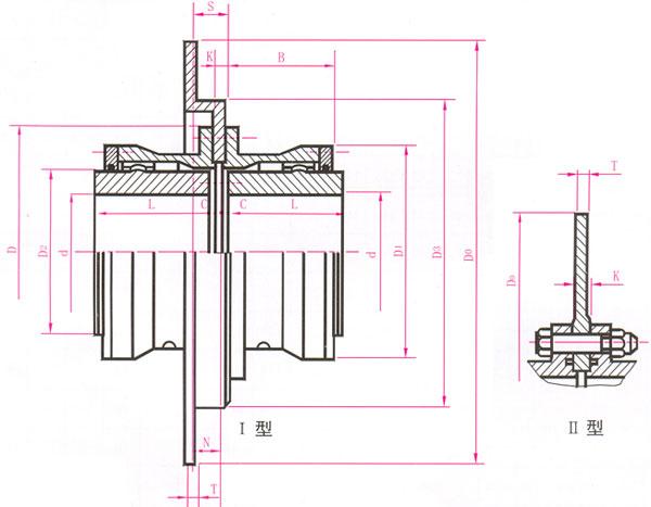 鼓形齿式联轴器